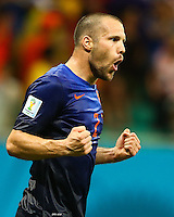 Ron Vlaar of Netherlands celebrates victory at full time