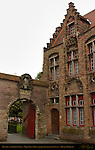 Rectory and Garden Gate, Onze-Lieve-Vrouwkerk Church of Our Lady, OLV-Kerkhof-Zuid, Bruges, Brugge, Belgium