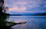 Calm spring  evening at Hayden Lake Idaho.