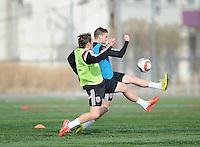 Arlington Va.- January 23, 2015.  D.C. Untied training session before heading to Florida at Long Bridge Park.