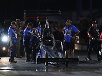Apr 21, 2017; Baytown, TX, USA; Crew members for NHRA top fuel driver Terry Haddock during qualifying for the Springnationals at Royal Purple Raceway. Mandatory Credit: Mark J. Rebilas-USA TODAY Sports