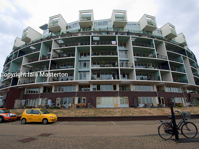 Modern architecture of new apartment building on java for Architecture firm amsterdam