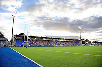 A general view of Donnybrook Stadium prior to the match. Pre-season friendly match, between Leinster Rugby and Bath Rugby on August 26, 2016 at Donnybrook Stadium in Dublin, Republic of Ireland. Photo by: Patrick Khachfe / Onside Images