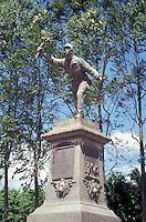Statue of Costa Rican hero of Juan Santamaria in the town of Alajuela, Costa Rica