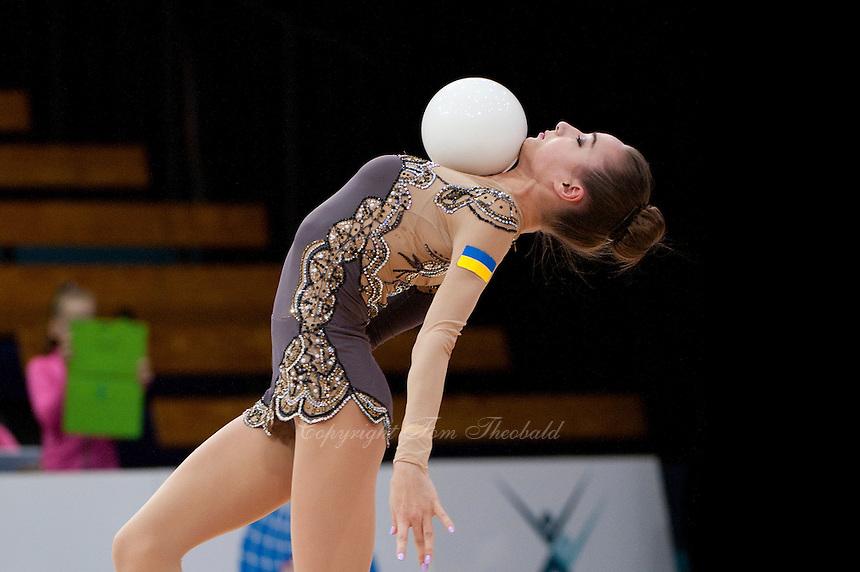 "February 12, 2016 - Tartu, Estonia - VIKTORIA MAZUR of Ukraine wins bronze in the All-Around at ""Miss Valentine"" 2016 international tournament."