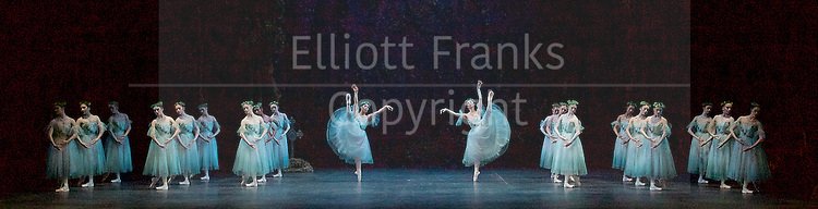 Giselle <br /> English National Ballet at The London Coliseum, London, Great Britain <br /> rehearsal <br /> 10th January 2017 <br /> <br /> The Wilis <br /> <br /> <br /> Photograph by Elliott Franks <br /> Image licensed to Elliott Franks Photography Services