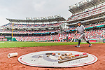30 August 2015: Miami Marlins outfielder Ichiro Suzuki warms up on deck prior to facing the Washington Nationals at Nationals Park in Washington, DC. The Nationals defeated the Marlins 7-4 in the third game of their 3-game weekend series. Mandatory Credit: Ed Wolfstein Photo *** RAW (NEF) Image File Available ***