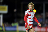 Billy Twelvetrees of Gloucester Rugby looks on during a break in play. Aviva Premiership match, between Bath Rugby and Gloucester Rugby on February 5, 2016 at the Recreation Ground in Bath, England. Photo by: Patrick Khachfe / Onside Images