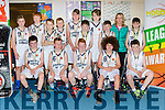 The Caherciveen team that played Kenmare in the Kery basketball finals in Killarney on Saturday front row l-r: Oisin O'Sullivan, Brian Sullivan, David O'Neill, Luke Harty, tomas Kelly, Back row: Ryan Sugrue, Donnacha O'Connell, Jack O'Connor, Shay Stapleton, Sean Kennedy, Ross Musgrave, Darragh Devlin, Diarmuis Farren