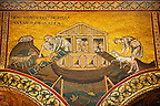 Byzantine mosaics in the Cathedral of Monreale - Noah letting the animals out - Palermo - Sicily Pictures, photos, images &amp; fotos photography