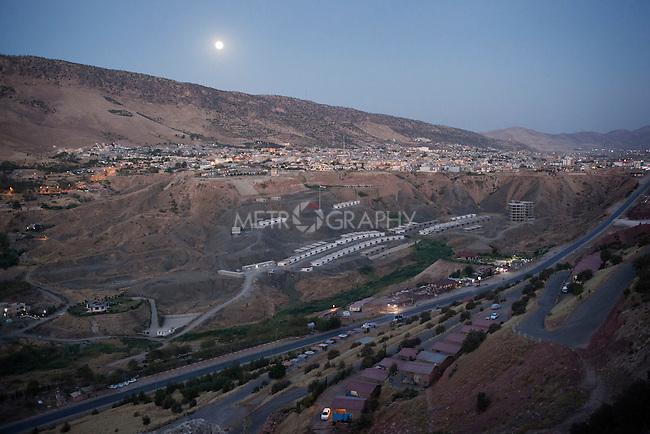 30/08/15. Shaqlawa, Iraq. -- A view of Sarmeidan area, Shaqlawa from Sorek mountain.