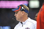 Ole Miss Coach Hugh Freeze vs. Tulane in the first half at the Mercedes-Benz Superdone in New Orleans, La. on Saturday, September 22, 2012. Ole Miss won 39-0...