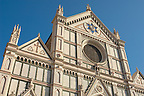 Basilica Santa Croce - Facade - Florence Italy.