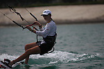 Water sport activity in the Emirate of Abu Dhabi UAE. Kit surfing photos.