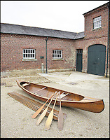BNPS.co.uk (01202) 558833<br /> Picture: Bonhams<br /> <br /> A Canadian canoe, 1925, used by the Copeland family. est &pound;1,200<br /> <br /> It is the ultimate garden sale -- The aristocrat Cunliffe-Copeland family are auctioning off millions of pounds of antiques in a unique sale of the entire contents of their stately home Trelissick House near Truro in Cornwall. For generations the family have filled the magnificent The 18th century manor with treasures acquired from travels around the globe.<br /> <br /> 58 years ago the house was left to the National Trust on the condition members of the family could carry on living in the property. But the current incumbent, William Copeland and wife Jennifer, have decided to buy a normal-sized family home and are unable to take the hundreds of heirlooms with them. So they are holding a two-day sale of ancient ornaments, paintings, furniture, jewellery, silverware, books, rugs and wine in the grounds of Trelissick House, near Truro, later this month, and hope to raise &pound;3million