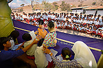 Behind the scenes on a RARE Conservation puppet show, Komodo Village, Komodo National Park