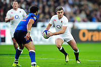 George Ford of England in possession. RBS Six Nations match between France and England on March 19, 2016 at the Stade de France in Paris, France. Photo by: Patrick Khachfe / Onside Images
