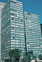 Mies van der Rohe: Lakeshore Apartments, Chicago. Designated Chicago Landmark, 1996. Two towers built of glass and steel. 1949-51. Photo '76.