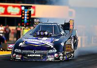Jul 31, 2015; Sonoma, CA, USA; NHRA funny car driver Jack Beckman during qualifying for the Sonoma Nationals at Sonoma Raceway. Mandatory Credit: Mark J. Rebilas-