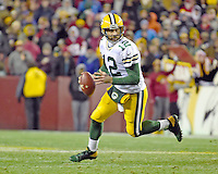 Green Bay Packers quarterback Aaron Rodgers (12) carries the ball in second quarter against the Washington Redskins at FedEx Field in Landover, Maryland on Sunday, November 20, 2016.<br /> Credit: Ron Sachs / CNP /MediaPunch