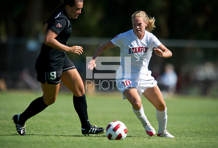 STANFORD, CA - September 12, 2010:  Sydney Payne during a soccer match against Pacific, in Stanford, California. Stanford won 4-0.