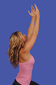 Stock photo of Feminine woman doing yoga