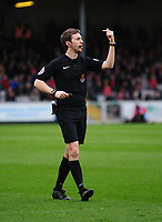 Referee Ben Toner<br /> <br /> Photographer Andrew Vaughan/CameraSport<br /> <br /> Buildbase FA Trophy Semi Final Second Leg - Lincoln City v York City - Saturday 18th March 2017 - Sincil Bank - Lincoln<br />  <br /> World Copyright &copy; 2017 CameraSport. All rights reserved. 43 Linden Ave. Countesthorpe. Leicester. England. LE8 5PG - Tel: +44 (0) 116 277 4147 - admin@camerasport.com - www.camerasport.com