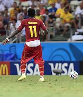 FUSSBALL WM 2014  VORRUNDE    GRUPPE G     Deutschland - Ghana                 21.06.2014 Bei Sulley Ali Muntari (Ghana) sitzt die Hose sehr tief