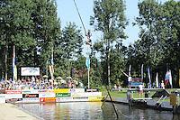FIERLJEPPEN: GRIJPSKERK: 27-08-2016, Nederlands Kampioenschap Fierljeppen/Polsstokverspringen, Hessel Haanstra, ©foto Martin de Jong