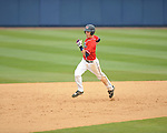 Ole Miss' Alex yarbrough (2) hits a home run vs. Houston at Oxford-University Stadium in Oxford, Miss. on Sunday, March 11, 2012. Ole Miss won 11-3 to sweep the three-game series.