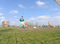 VOETBAL: : WIRDUM: 05-04-2014, WWS Wirdum - DWP Sint Johannesga uitslag 0- 5, Joep de Kleijne DWP scoort de 2-0, ©foto Martin de Jong