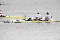 Brandenburg, GERMANY, GBR, BM2X, Bow Charles COUSINS and Bill LUCAS, Gold medalist.  2008 FISA U23 World Rowing Championships, Sunday, 20/07/2008, [Mandatory credit: Peter Spurrier Intersport Images]..... Rowing Course: Brandenburg, Havel Rowing Course, Brandenburg, GERMANY
