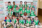 Firies NS teams that won the NS Senior Boys B and the National School Senior Girls B competitions at the St Marys Christmas basketball blitz in Castleisland on Friday front row l-r: James Horgan, Jjosh vermiglio, Tristan Keating, Ben Fleming. Middle row: Doireann O'Shea, Stephen Palmer, Katie O'Sullivan, Katie O'Leary, Ellen O'Sullivan. Back row: Brian scott, Elbe Mahadi, Aine O'Shea, Melissa Darlington, Elaine MaMahon,
