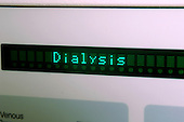 LED display of a Haemodialysis Machine. Royalty Free