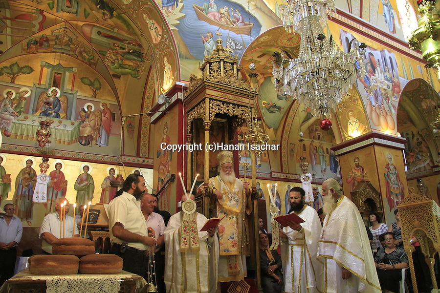 Israel, Mount Tabor, Transfiguration Day ceremony at St. Elias Greek Orthodox monastery