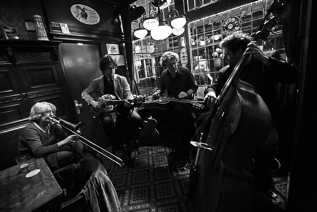 Jazz musicians perform at a bar in Amsterdam, Netherlands. Feb. 28, 2009.