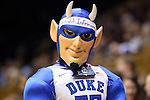 24 March 2014: Duke Blue Devil mascot. The Duke University Blue Devils played the DePaul University Blue Demons in an NCAA Division I Women's Basketball Tournament Second Round game at Cameron Indoor Stadium in Durham, North Carolina. DePaul won the game 74-65.