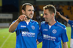 St Johnstone v FC Luzern...24.07.14  Europa League 2nd Round Qualifier<br /> Dave Mackay and Steven MacLean<br /> Picture by Graeme Hart.<br /> Copyright Perthshire Picture Agency<br /> Tel: 01738 623350  Mobile: 07990 594431