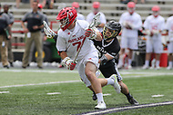 College Park, MD - May 14, 2017: Maryland Terrapins Tim Rotanz (7) runs with the ball during the NCAA first round game between Bryant and Maryland at  Capital One Field at Maryland Stadium in College Park, MD.  (Photo by Elliott Brown/Media Images International)