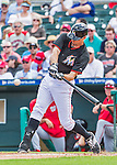 10 March 2015: Miami Marlins outfielder Don Kelly in Spring Training action against the Washington Nationals at Roger Dean Stadium in Jupiter, Florida. The Marlins edged out the Nationals 2-1 on a walk-off solo home run in the 9th inning of Grapefruit League play. Mandatory Credit: Ed Wolfstein Photo *** RAW (NEF) Image File Available ***