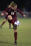 9 November 2007: Florida State's Kirsten van de Ven. Florida State University defeated Wake Forest University 5-2  at the Disney Wide World of Sports complex in Orlando, FL in an Atlantic Coast Conference tournament semifinal match.
