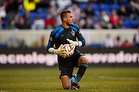 Colorado Rapids goalkeeper John Berner (12). The New York Red Bulls and the Colorado Rapids played to a 1-1 tie during a Major League Soccer (MLS) match at Red Bull Arena in Harrison, NJ, on March 15, 2014.