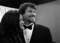 28 April 2006: Peter Reckell with his wife watching the show in the exclusive behind the scenes photos of celebrity television stars in the STAR greenroom at the 33rd Annual Daytime Emmy Awards at the Kodak Theatre at Hollywood and Highland, CA. Contact photographer for usage availability.