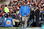 14 December 2014: UCLA head coach Jorge Salcedo. The University of Virginia Cavaliers played the University of California Los Angeles Bruins at WakeMed Stadium in Cary, North Carolina in the 2014 NCAA Division I Men's College Cup championship match. Virginia won the championship by winning the penalty kick shootout 4-2 after the game ended in a 0-0 tie after overtime.