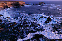 La Portada on the desert coast is an offshore stack and eroded natural arch. It is located north of Antofagasta. .
