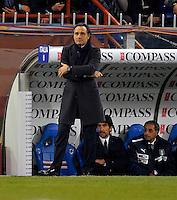Coach Cesare Prandelli (ITA), during the friendly match Italy against USA at the Stadium Luigi Ferraris at Genoa Italy on february the 29th, 2012.