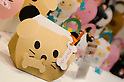 February 8th, 2012 : Tokyo, Japan &ndash; Animal shaped boxes are displayed for The 73rd Tokyo International Gift show 2012 at Tokyo Big Sight. There are over 3 million items including gift products and everyday goods. 2500 exhibitors showcase their unique products. This exhibition is held from February 8 to 10. (Photo by Yumeto Yamazaki/AFLO).