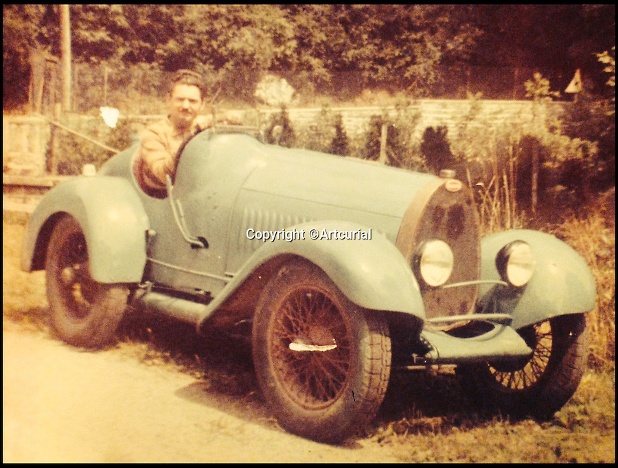 BNPS.co.uk (01202 558833)<br /> Pic: Artcurial/BNPS<br /> <br /> Bugatti enthusiast Bernard Terrillon in the car.<br /> <br /> Barn find Bugatti set to sell for &pound;200,000.<br /> <br /> A 90 year old Bugatti Brescia has been discovered languishing in a french barn, and despite its rather 'tired' condition is set to sell for &pound;200,000 at auction.<br /> <br /> The 'outstanding and extremely rare' car, is one of just twelve surviving examples of the model made by Ettore Bugatti between the wars.<br /> <br /> The has been in the hands of the same owner since 1953, and has not moved for some 40 years.<br /> <br /> Auctioneers Artcurial are selling the car at their Paris sale of 22 June.