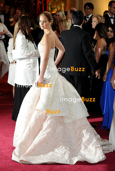 Jennifer Lawrence arriving for the 85th Academy Awards at the Dolby Theatre, Los Angeles.