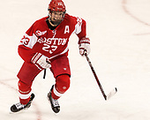 Jakob Forsbacka Karlsson (BU - 23) - The visiting Boston University Terriers defeated the Boston College Eagles 3-0 on Monday, January 16, 2017, at Kelley Rink in Conte Forum in Chestnut Hill, Massachusetts.